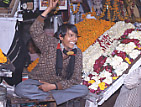 Flower market in Old Dehli